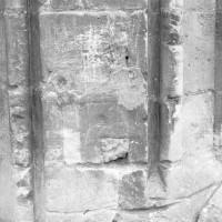 Mouluration de la porte d'accès à la salle capitulaire (1992)