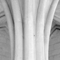 Retombée des voûtes sur le pilier central du chartrier (1992)
