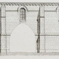 Le mur sud de la nef d'après E.Woillez