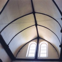 La charpente du bras nord du transept (2005)