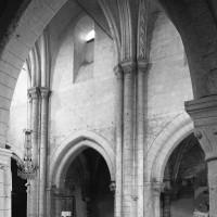 L'élévation du mur gouttereau nord de la nef vue vers le nord-ouest (1996)
