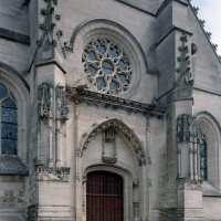 La partie centrale de la façade vue du nord-ouest (2007)