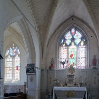 Le choeur et la chapelle nord vus vers le nord-est (2002)