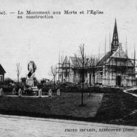 L'église en reconstruction