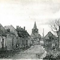 Le village et l'église en 1918