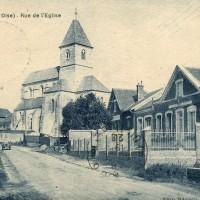 Le village et l'église en 1928