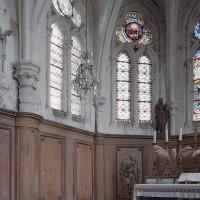 L'élévation partielle de l'abside vue vers le nord-est (2005)