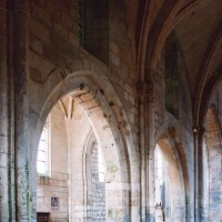 Le mur gouttereau nord de la nef vu vers le nord-ouest (2006)