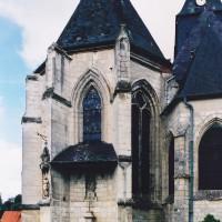 L'abside du choeur de la paroisse vue du nord-est (2003)