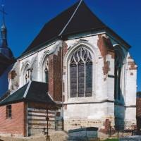 Le choeur de l'église vu du sud-est (2003)