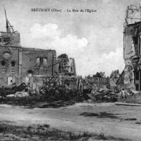 L'église en 1918