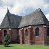 Le choeur et le transept vus du sud-est (2005)