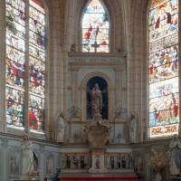 L'abside du choeur paroissial vue vers l'est (2003)