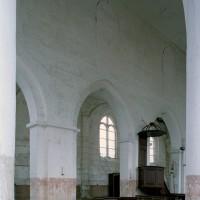 Le mur nord de la nef vu vers le nord-est (2007)