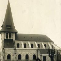La nouvelle église en 1927, après sa reconstruction