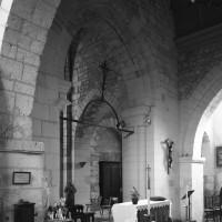 Vue partielle de la travée du clocher vers le sud-ouest