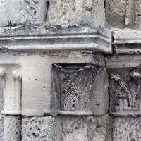 Les chapiteaux du piédroit de gauche du portail (2008)