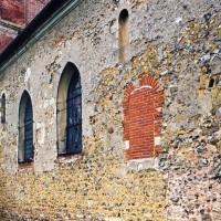 Le mur sud de la nef vu vers le nord-ouest (2005)
