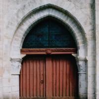 L'arcade ouest à la base du clocher (2003)