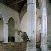 Vue partielle de la nef vers le sud-ouest depuis le bas-côté nord (2008)