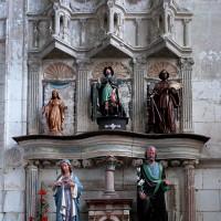 Le retable en pierre de la chapelle sud (2005)