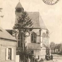 L'ancienne église avant sa destruction durant la Guerre 14-18
