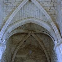 La voûte de la travée droite du choeur et celle de la travée du clocher vues vers l'ouest (2006)