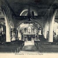 L'intérieur de l'église avant l'incendie de 1933