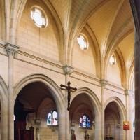 Le mur nord de la nef vu vers le nord-est (2006)