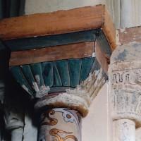 Chapiteau à godrons du côté nord du choeur (2004)