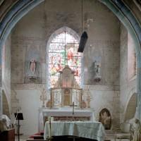 La dernière travée du choeur, ajoutée à la fin du 13ème siècle, vue vers l'est (2003)