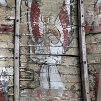 Détail de la charpente de la chapelle Saint-Jean-Baptiste (2003)