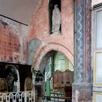 La première travée du choeur de la fin du 12ème siècle vue vers le sud-est depuis la chapelle nord  (2003)