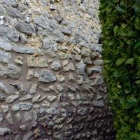 Appareil en arêtes de poisson au mur sud de la nef