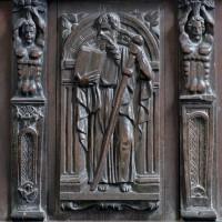 Panneau sculpté dans le choeur : Moïse (2006)