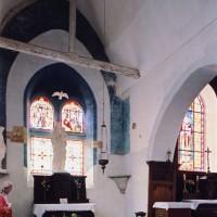 Le choeur et l'entrée de la chapelle sud vus vers le sud-est (2005)