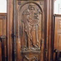Porte sculptée représentant saint Jean Baptiste (2005)