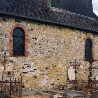 Le mur nord de la nef vu du nord-est (2005)