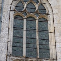 Vue partielle de la fenêtre du chevet (2016)