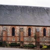Le mur nord de la nef vu depuis le nord (2003