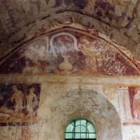 Fresque de l'Annonciation sur le mur nord de la chapelle nord (2005)