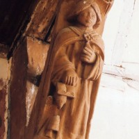 Détail de la charpente : saint Jean (2003)