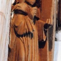 Détail de la charpente : saint Luc
