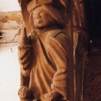 Détail de la charpente : saint Marc