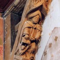 Détail de la charpente : saint Matthieu (2003)