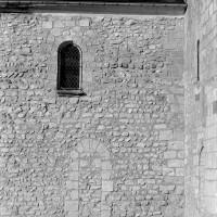 Extrémité est du mur gouttereau sud de la nef (1972)
