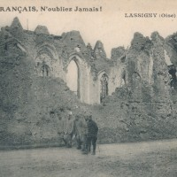 L'église en ruines durant la Guerre 14-18