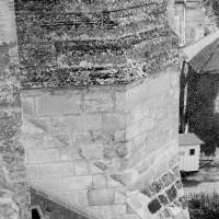 La partie supérieure de la cage d'escalier nord du choeur du 12ème siècle vue vers l'ouest (1970)