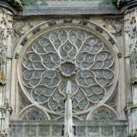 La rose de la façade sud du transept (2015)