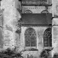 La partie droite du choeur du 12ème siècle vue du nord (1986)